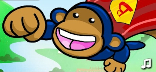 Help Supermonkey in destroying the hordes of Bloons, attacking his peaceful country. Shoot Bloons and avoid flying bombs. Simple and engaging gameplay – have fun! Game Controls: Mouse