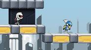 A super addictive running-escape game. Your are a guy chased by the deadly Cyborg. Fortunately, you have an unusual trait: you can flip the planet's gravity field. Use […]