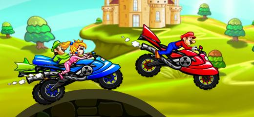 Race against other Super Mario Bros characters in this fine motocross game. Collect golden coins (surprise?) and be the first on the finish line. Good luck! Game Controls: […]