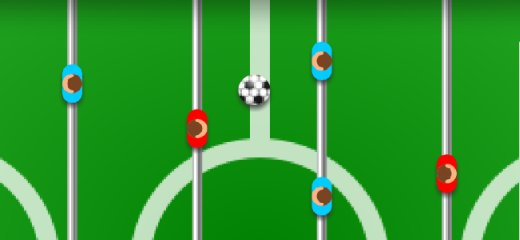 2 PLAYERS FOOSBALL