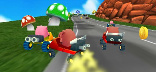Totally krazy 3D racing game in which you're a pig, driving ultra-fast go-kart and racing against other pigs, in the psychedelic Mario-like world. You can play time-trial or […]