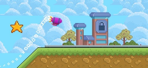 Fly your pixel blimp safely to the destination airport in this simple, yet challenging game. Click mouse button to accelerate the blimp, hold it to fly even higher. […]