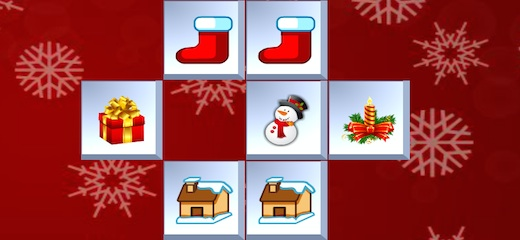 Enjoy this special Christmas version of Mahjong puzzle! Connect two identical tiles to make them disappear and clear the board. Good luck! Game Controls: Mouse