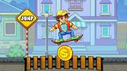 Get on your skateboard and ride through obstacle-packed courses. Collect money and buy upgrades. Jump over banks, trash bins and other things and enjoy this fine skateboarding game! […]