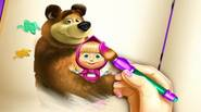 Something cool for all Masha and The Bear fans! Choose your favorite characters and color them, using various tools and techniques. Enjoy! Game Controls: Mouse