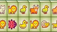 A funny mahjong game for kids, featuring cute animals. Just click on a pair of adjacent blocks who have 2 adjacent sides free. Game Controls: Mouse