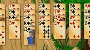 Another funky variation of the classic Forty Thieves Solitaire game. Move all the cards from the layout, waste and stock piles onto the foundation piles. Cards can be […]