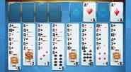 An alternative version of Freecell. All cards from the deck are on the table, in 8 columns. You have to build up columns in the descending order in […]