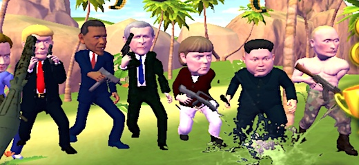 This is one of the funniest 3D FPS games we've ever played! Choose your favorite world leader (you can choose Angela Merkel, Donald Trump, Barack Obama, Vladimir Putin, […]