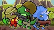 The Dino Squad strikes back! Collect golden coins and avoid tyrannosaurs in this epic 2-player platform game. Each dinosaur has its own unique skills, so cooperate to achieve […]