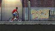 It's time to make some BMX tricks! Get on your bike and try to ride it awesome way. Jump on slopes, over boxes, and try to back-...
