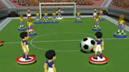 An excellent blend of football and board game. Try to score a goal, hitting the ball with your football player-shaped pawns. You have limited number of shots...
