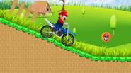 Ride Mario on the bike in this crazy little game. Run through hills, valleys, collect bonuses and stars. Watch out for pits with water and steep hills – […]
