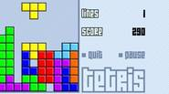 Tetris is a deceitfully simple game in which you have to build full horizontal lines with the falling blocks. You can rotate blocks to fit them into the […]
